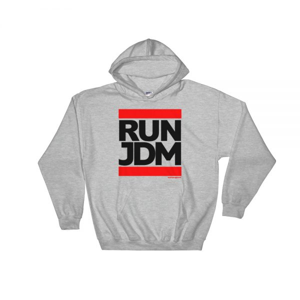 RUN JDM Hoodie - Sport Gray - JDM Apparel
