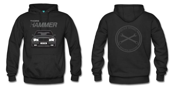 mercedes w124 shirt, amg, hammer, mercedes, hoodie, sweatshirt