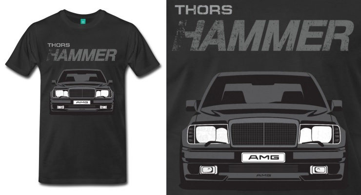 mercedes w124 shirt, amg, hammer, mercedes, shirt