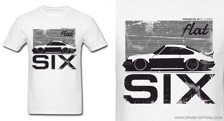 porsche shirt logo 911 sc carrera flat six