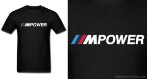 bmw m power shirt logo