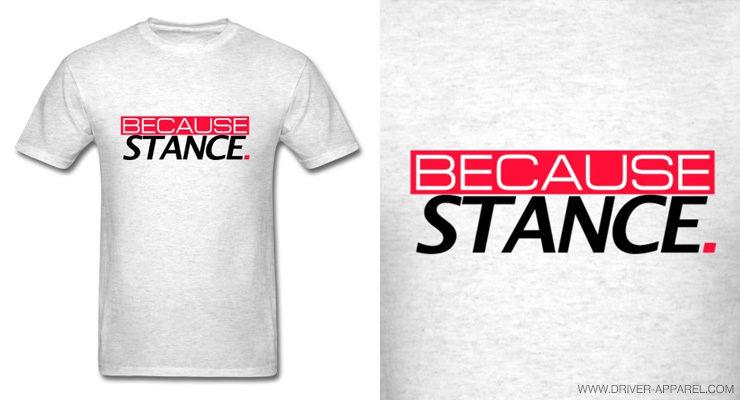 because stance shirt