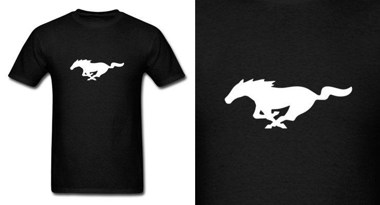 ford mustang shirt logo horse