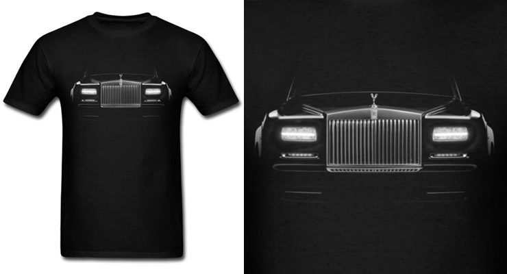rolls royce phantom shirt