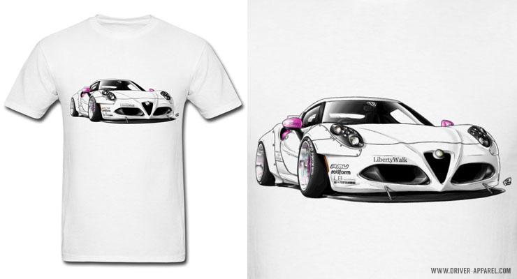 Alfaromeocwidebodylibertywalkshirt Driver Apparel - Alfa romeo apparel