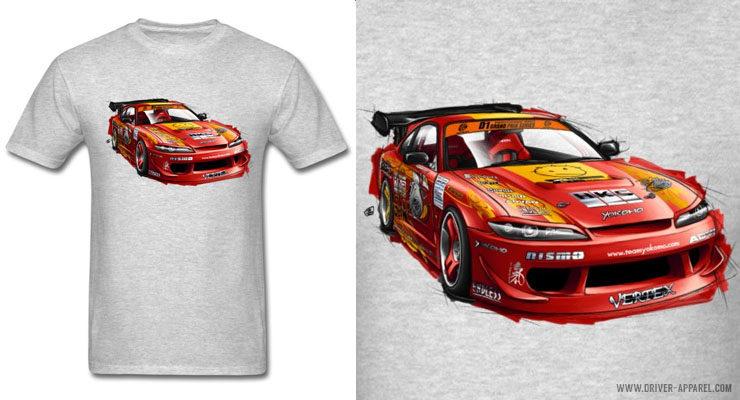 JDM Advan Nissan Silvia S15 Drift Car Shirts and Hoodies