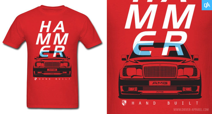 Mercedes AMG W124 Hammer Shirts and Hoodies
