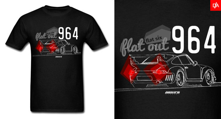 Rauh Welt Porsche 964 Shirts and Hoodies Flat Six Flat Out