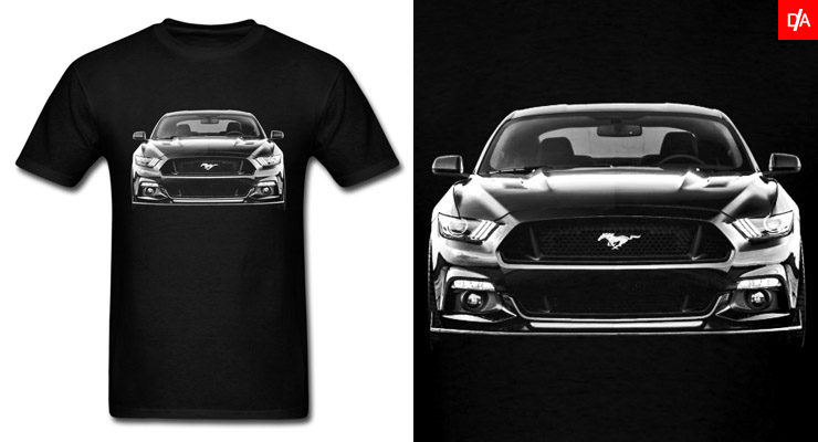 2016 Ford Mustang Front Shirts and Hoodies