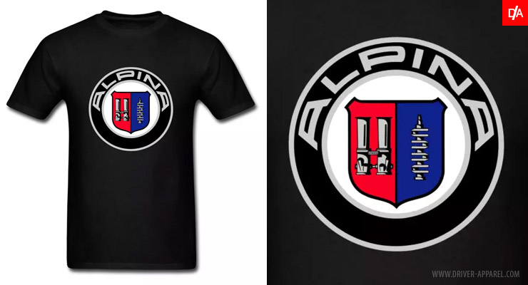 bmw alpina logo emblem shirts and hoodies driver apparel. Black Bedroom Furniture Sets. Home Design Ideas
