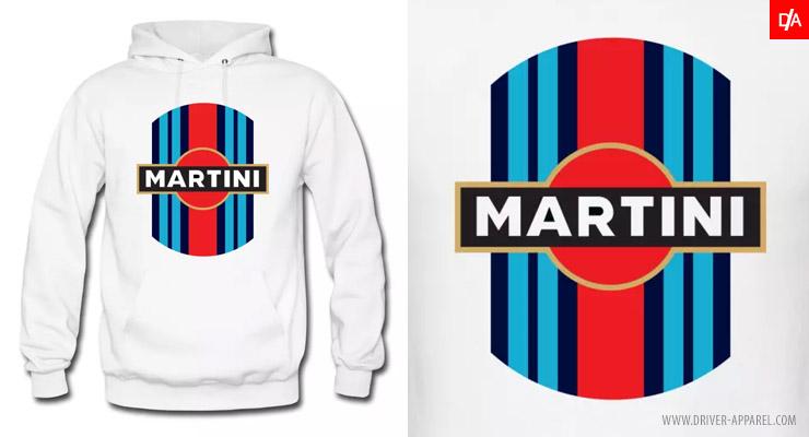 Martini Racing Logo/Stripe Hoodie