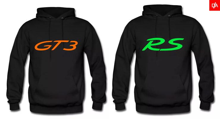 porsche, gt3, 911, rs, hoodie, carrera, logo, porsche gt3 hoodie