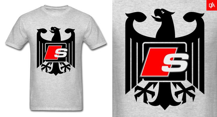 Audi S-Line German Flag Eagle Shirts and Hoodies