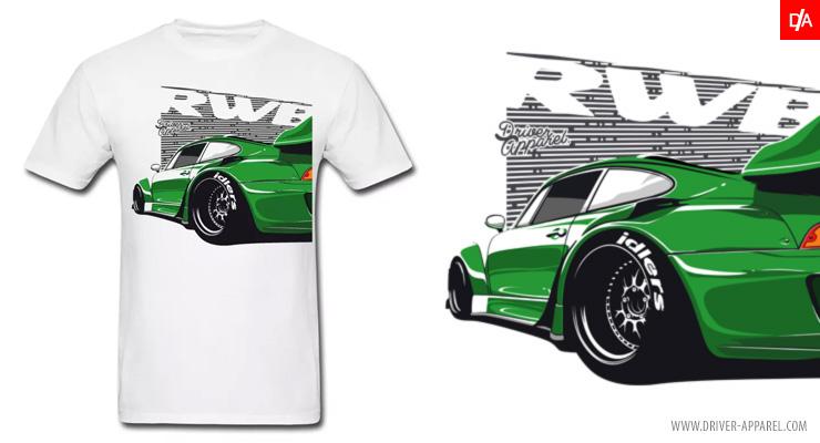 JDM RWB Rauh Welt Porsche 993 t-Shirts