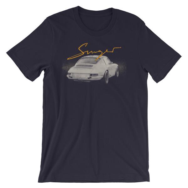 porsche 911 singer t shirt driver apparel. Black Bedroom Furniture Sets. Home Design Ideas