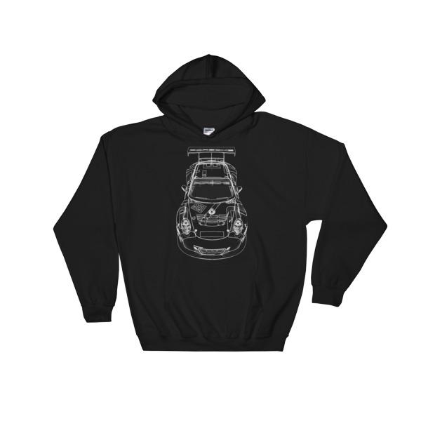 Porsche 911 Cup Car Hoodie