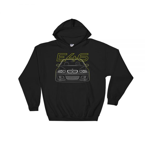 bmw m3 e46 stance front hoodie