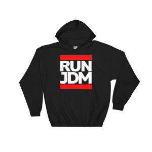 RUN JDM Hoodie - Black - JDM Apparel