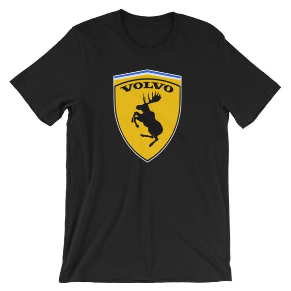 Volvo Prancing Moose Logo t-Shirt - Black