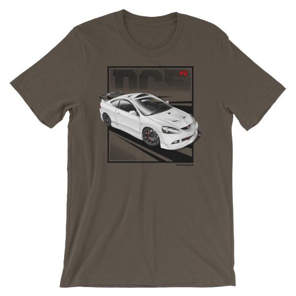 JDM Honda Integra DC5 / Acura RSX Stance t-Shirt - Army