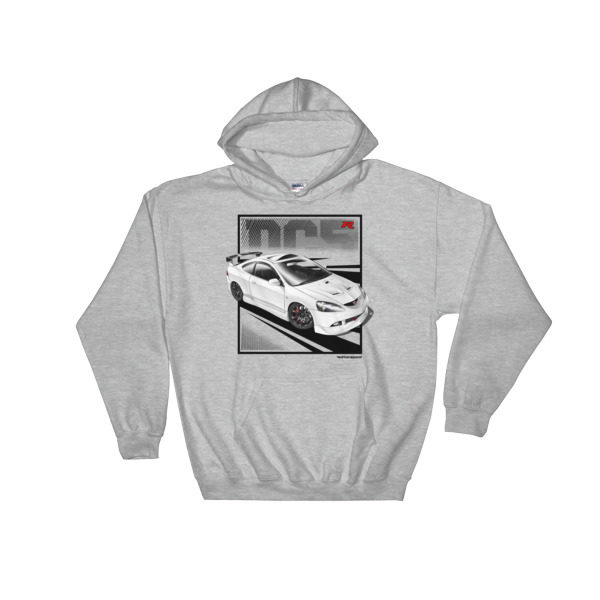 JDM Honda Integra DC5 / Acura RSX Stance Hoodie - Sport Gray