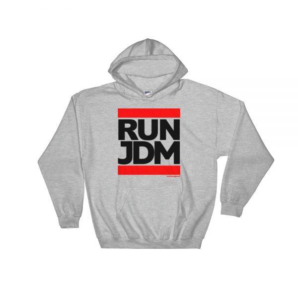RUN JDM Hoodie - Sport Gray - JDM Apparel