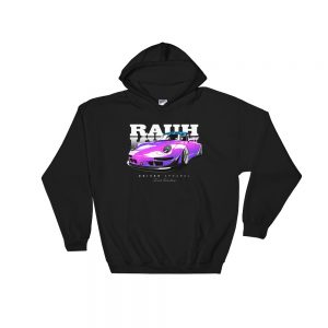 JDM Rauh Welt Porsche 993 Hoodie - Black/Purple