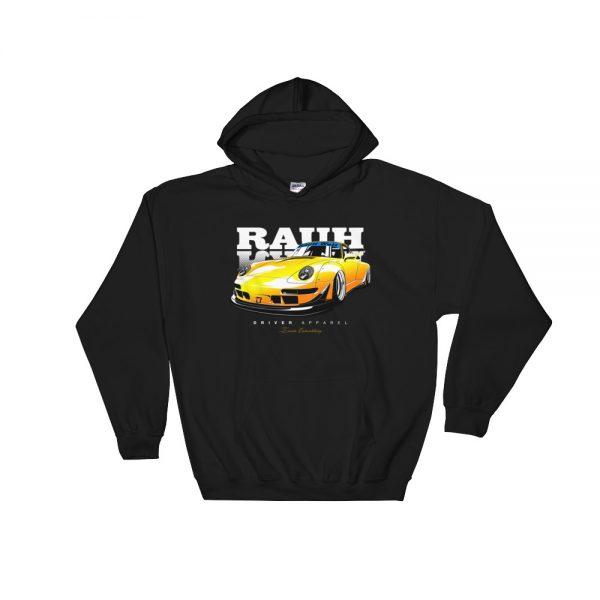 JDM Rauh Welt Porsche 993 Hoodie - Black/Yellow