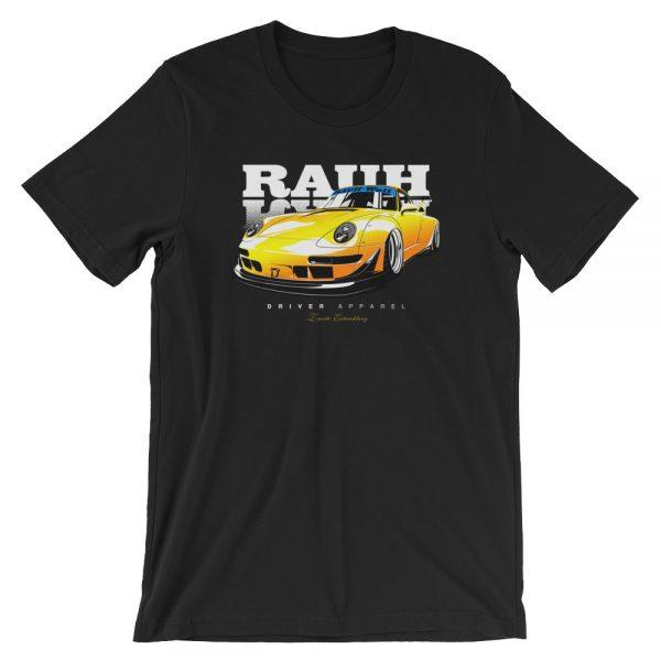 JDM Rauh Welt Porsche 993 t-Shirt - Yellow