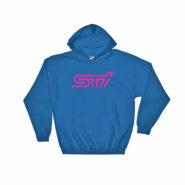 Subaru STi Logo/Emblem Hoodie (Blue/Pink)- BRZ, WRX Impreza, Forester, Legacy