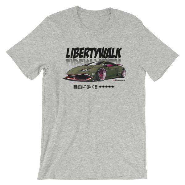 JDM Liberty Walk LB Performance LB Works Lamborghini Huracan Widebody Design t-Shirt.