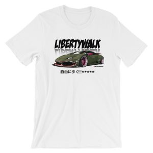 JDM Liberty Walk LB Performance LB Works Lamborghini Huracan Widebody Design t-Shirt