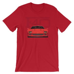 Red Vintage Ferrari F40 Shirt