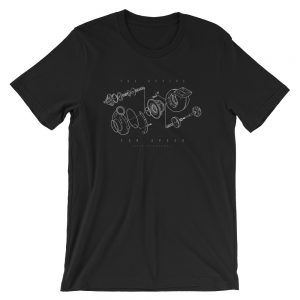 Turbocharger / Turbo Components - The Recipe For Speed t-Shirt.