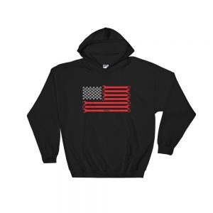 American Flag - Wrenches and Nuts Hoodie