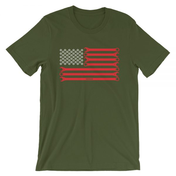 American Flag t-Shirt - Wrenches and Nuts t-Shirt