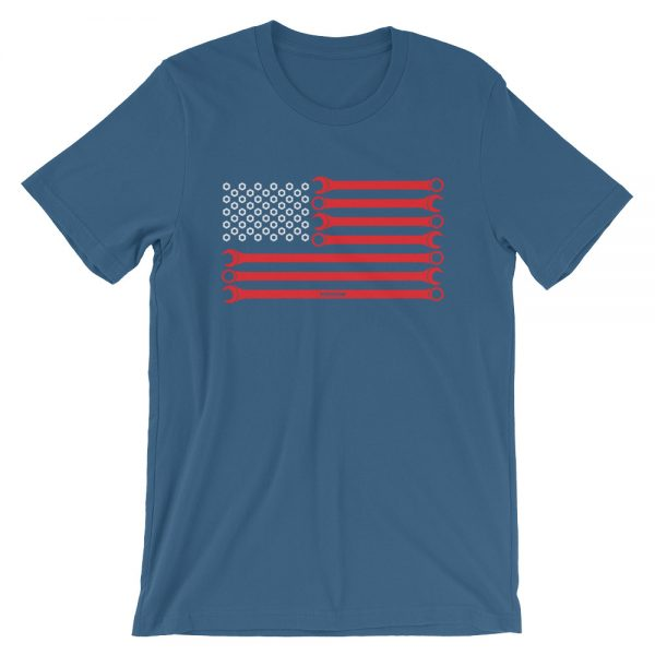 US American USA Flag - Wrenches and Nuts, Mechanic t-Shirt