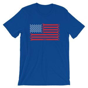 USA American Flag Wrenches - Muscle Car t-Shirt