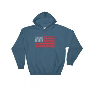 American USA Flag - Wrenches and Nuts Hoodie