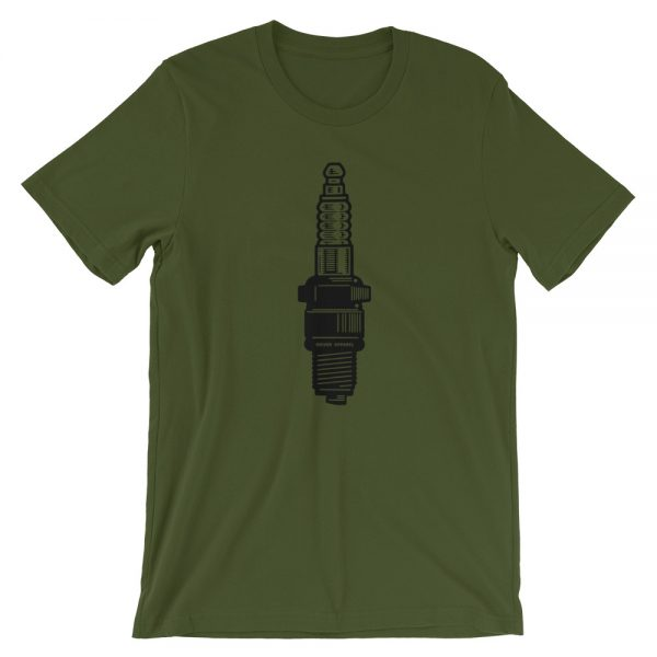 spark, plug, shirt